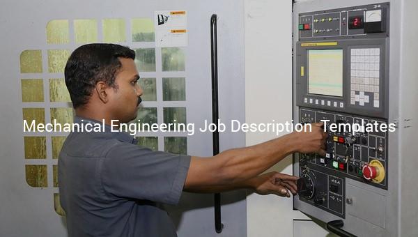 mechanical engineering job description template