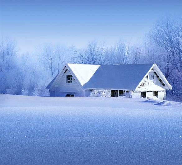 snow house xiaomi mi background