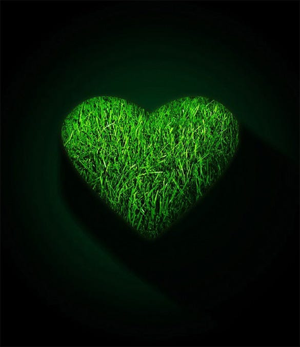 green heart xiaomi mi background