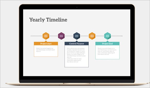 yearly timeline keynote template