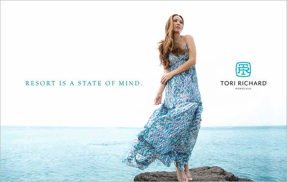 tori richard resort advertisement