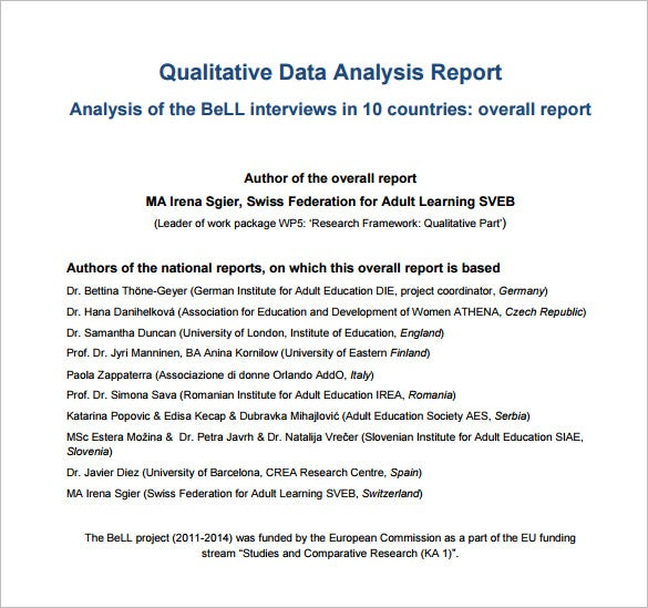 Analysis Templates   Free Word Excel Pdf Format Download