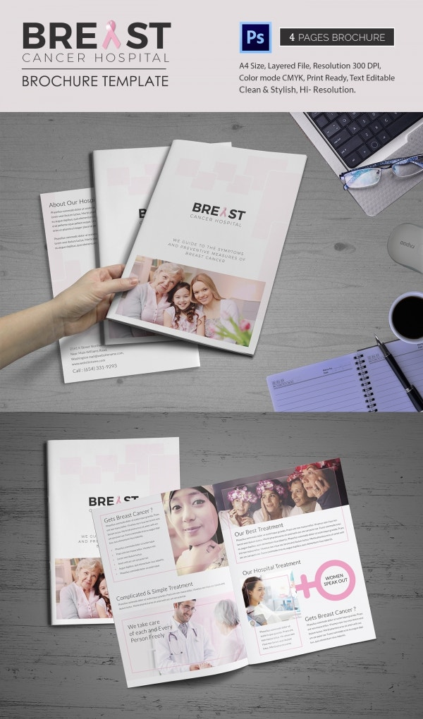 13 breast cancer brochure templates free psd ai for Bi fold brochure template illustrator