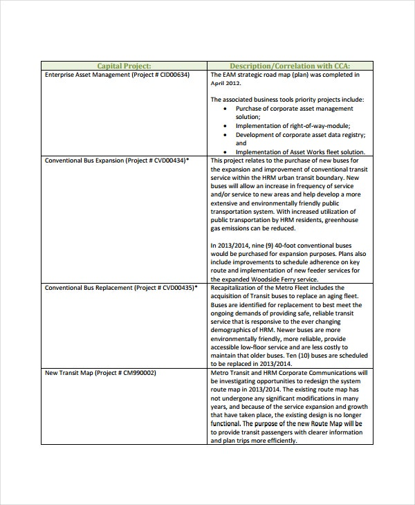 Climate Action Plan Template   Free Sample Example Format