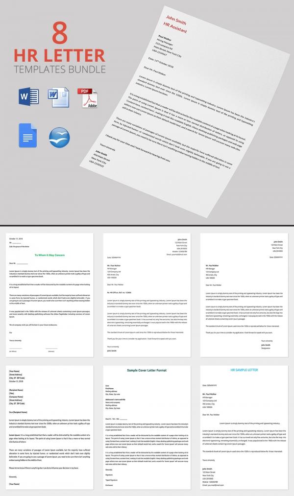 8 Best HR Warning Letters Bundle