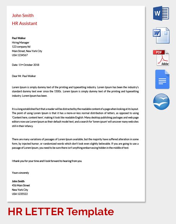 HR Assistance Letter of Warning