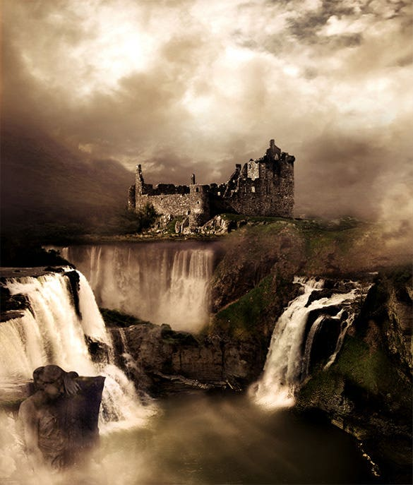 fantasy landscape photo manipulation art design