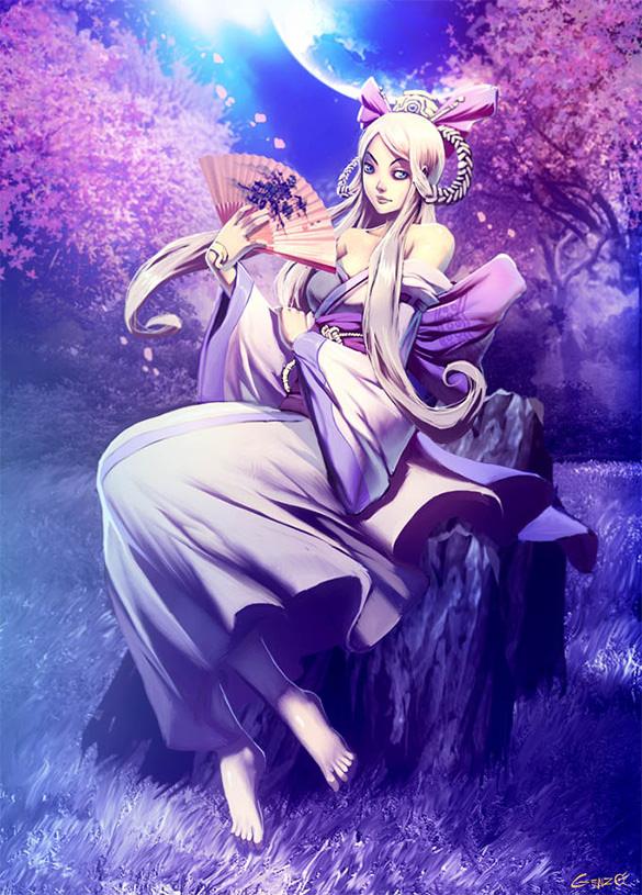 yakami hime fantasy art design