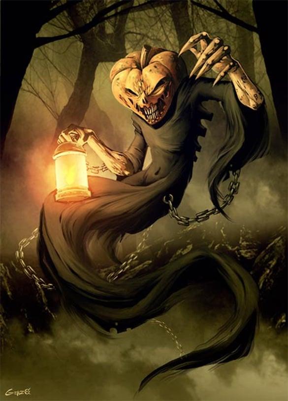 jack o lantern fantasy art design