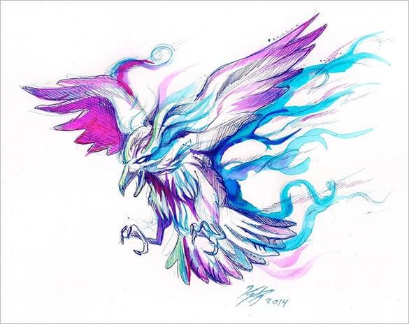 fantasy raven art design