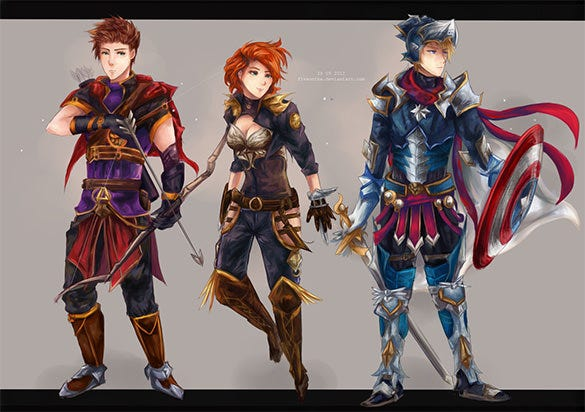 avengers re designed fantasy art design