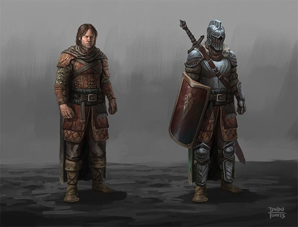dark fantasy character art design