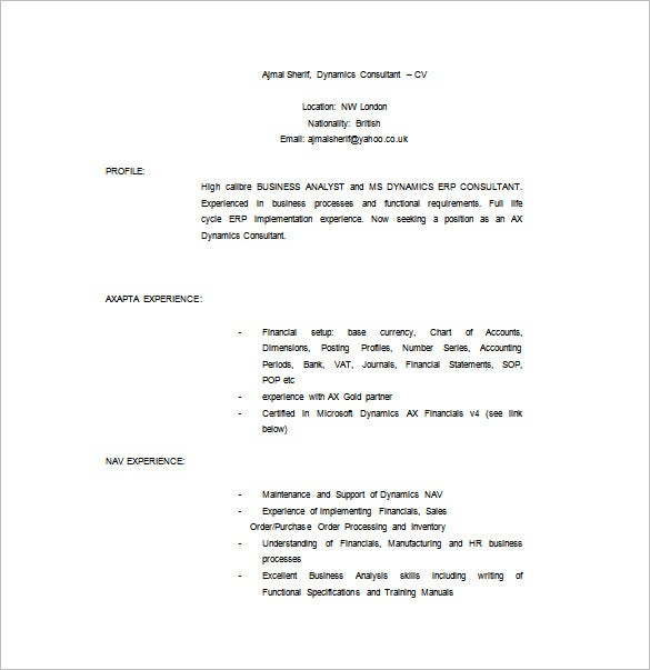 Leasing Consultant Resume Free Word Template  Leasing Consultant Resume