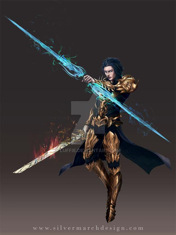 demigod fantasy art design