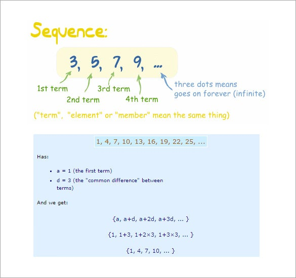 arithmetic sequences and sums