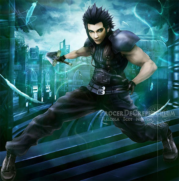 zack fair fantasy art