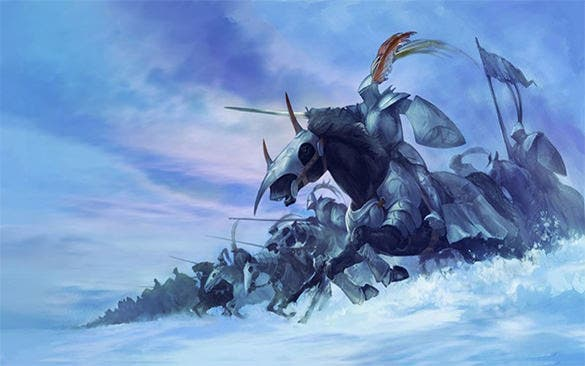 snow knights fantasy art
