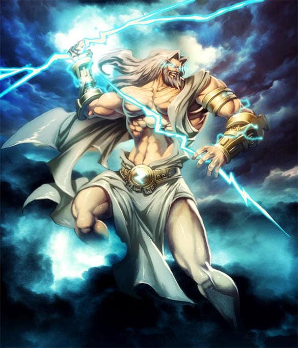 zeus mount olympus fantasy art