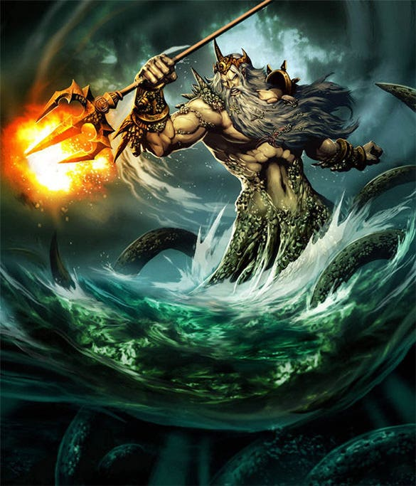 poseidon sea and earth shaker fantasy art