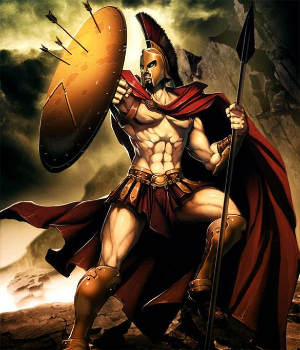 leonidas king of sparta fantasy art