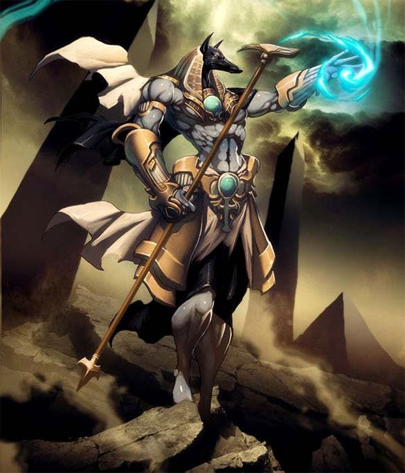 anubis jackal headed god fantasy art