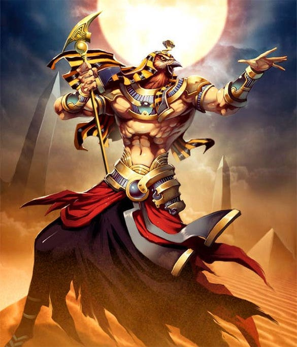 ancient egyptian sun god fantasy art
