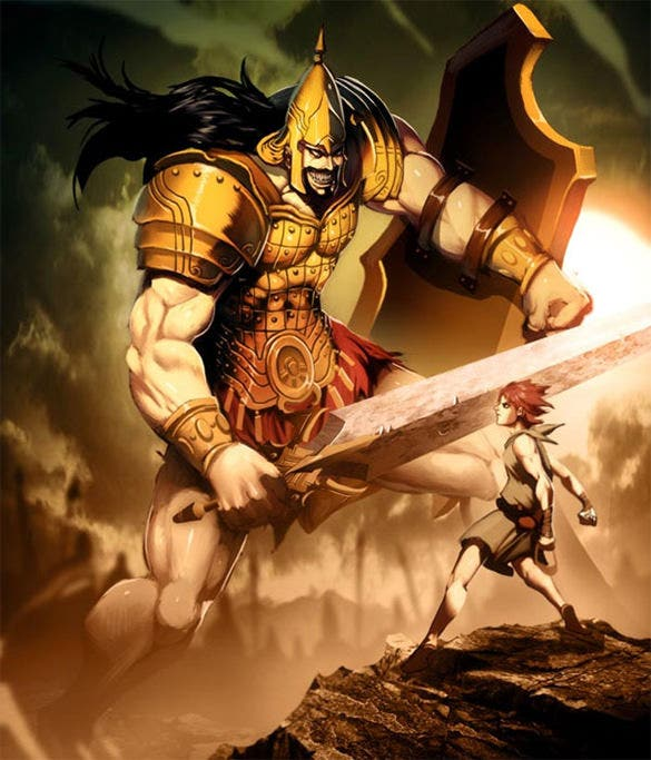 goliath philistine warrior fantasy art