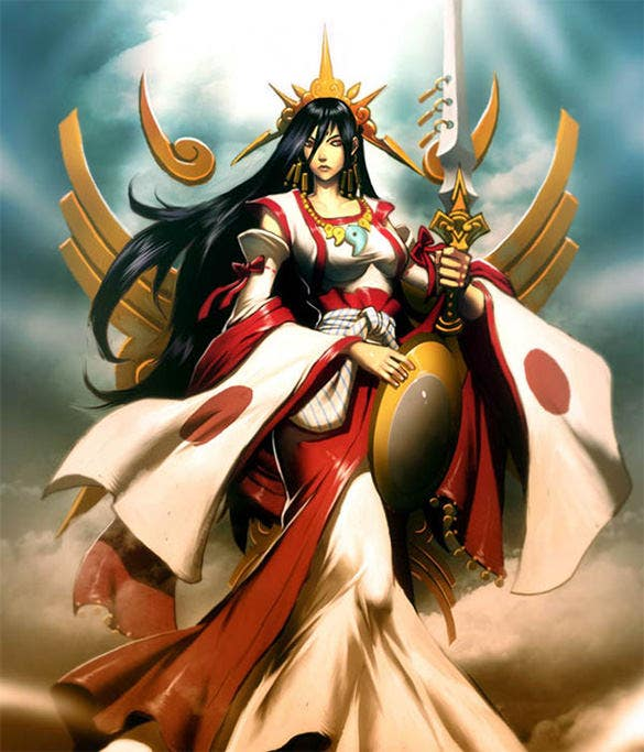 amaterasu sun goddess fantasy art