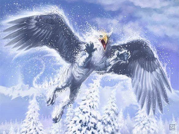 boreal griffin fantasy art