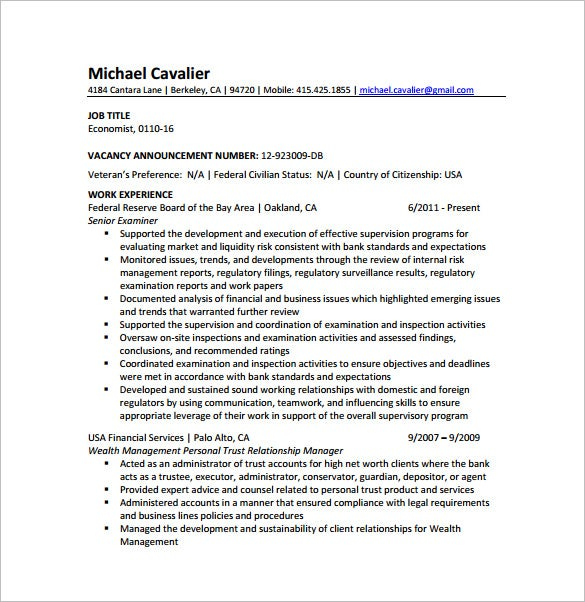 7+ Master Of Business Administration Resume Template
