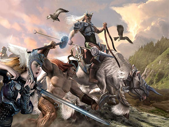 the last raid of ragnarok fantasy art