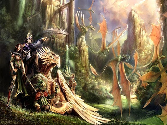wanderers of ravine fantasy art