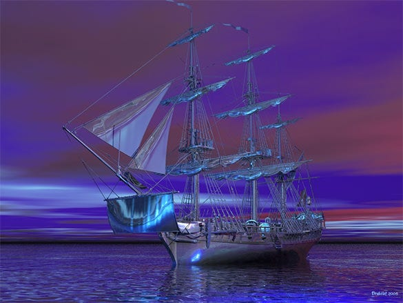 ghost ship fantasy art