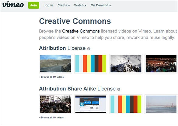 10+ Websites For Creative Common Videos | Free & Premium