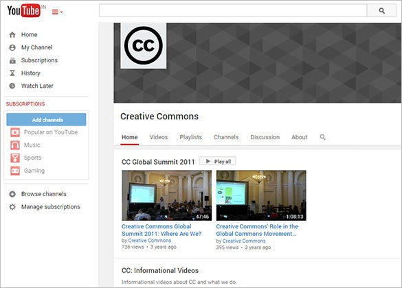 youtube creative common vedios for you