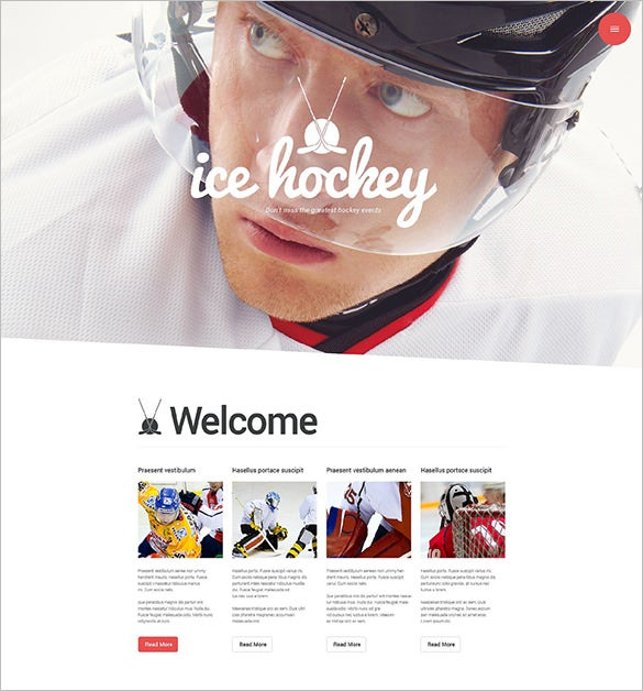 hockey team wordpress theme