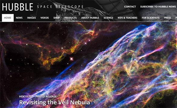 space telescope website for creative common vedios