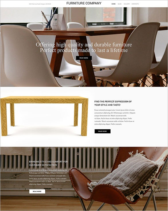 interior furniture html5 wordpress theme