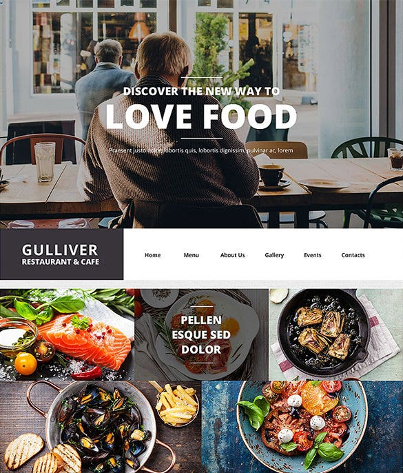 wordpress theme for a modern restaurant