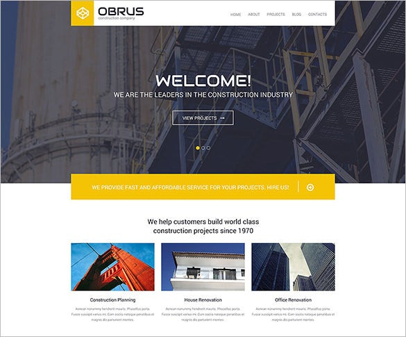 wordpress theme for a construction co