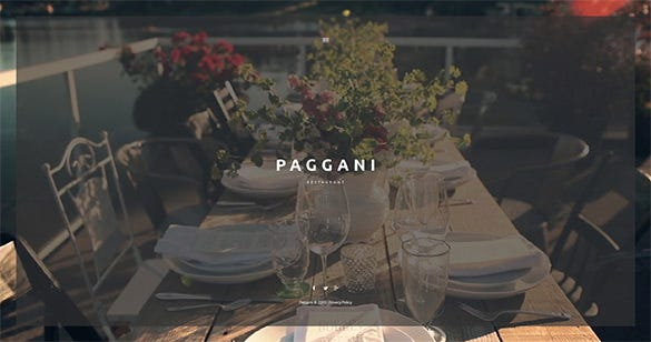 cafe restaurant html5 wordpress theme