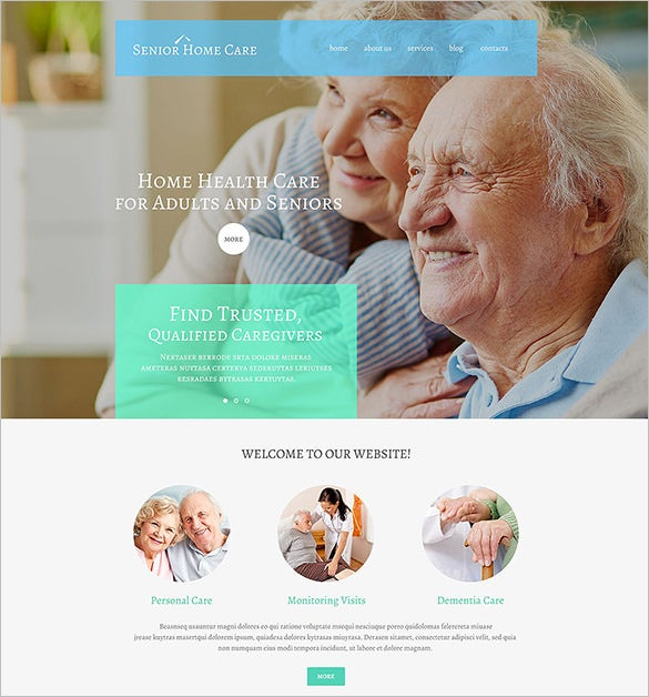 wordpress theme for senior care co