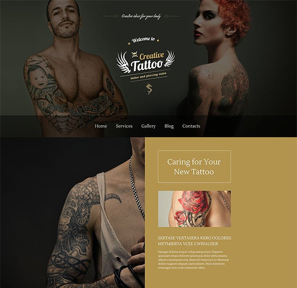 tattoo salon html5 wordpress theme
