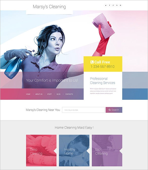 home cleaning services wordpress theme