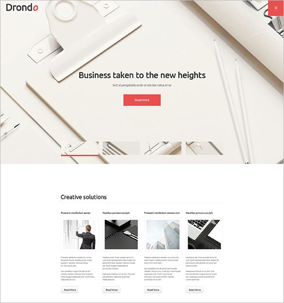 global business company wordpress theme