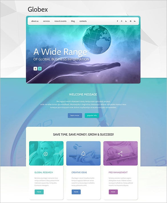 global business company wrdpress theme