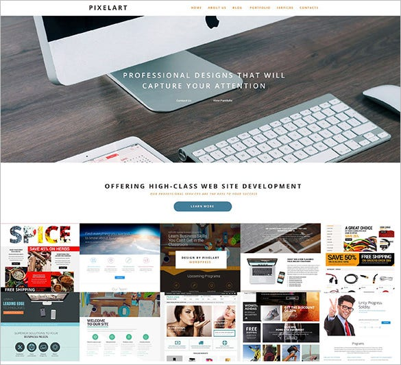 wordpress theme for web design company