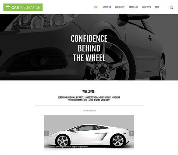 car insurance co responsive wordpress theme