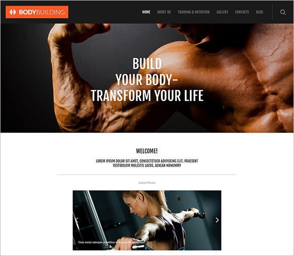 sport fitness responsive wordpress theme