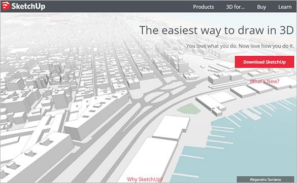 sketchup free 3d modeling software